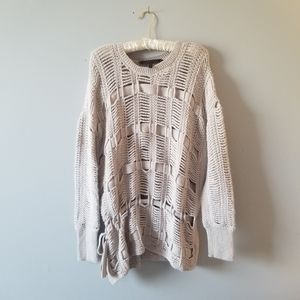 BCBGMaxAzria Open Knit Tan Sweater